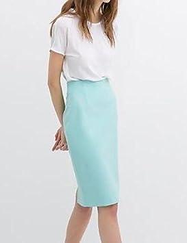 YY Mujer, color azul/amarillo/rosa/blanco faldas, vintage/Casual