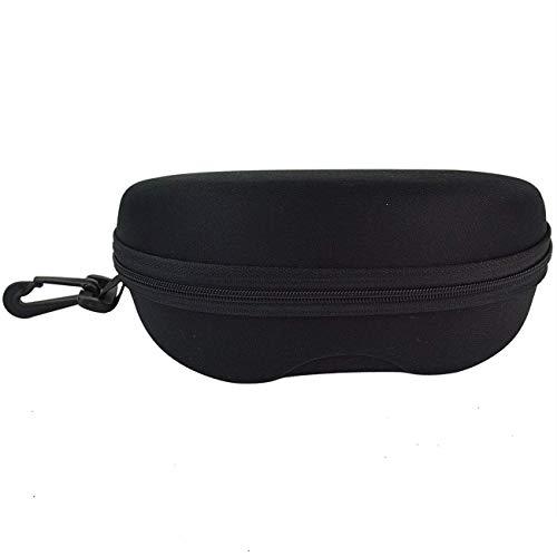Tojwi 6.30*3.35*2.56 Zipper Eye Glasses Sunglasses Hard Case Box Portable Protector Black