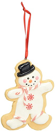 Department 56 Mrs. Claus Sweet Shoppe Cookie Cutter Snowman Hanging Ornament (Snowman Hanging Ornament)