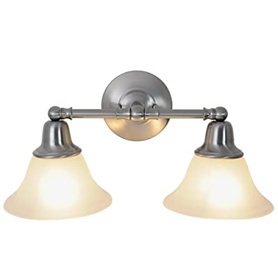 Monument 617265 Sonoma Vanity Fixture, Brushed Nickel, 18 In.