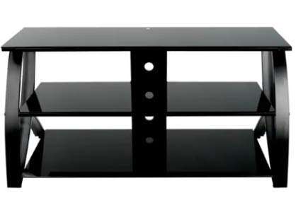 Amazon.com: TV Stands Table Cabinet-Black Glass for up to 72 ...