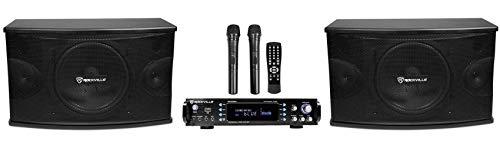 Rockville RPA70WBT Bluetooth Karaoke Amplifier/Mixer+(2) Mics+(2) 10