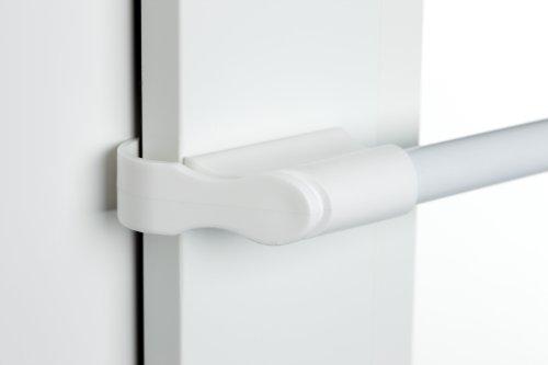 Klemmstange weiß Ø 10/12mm 75-125cm für Fenster für Scheibengardinen, Spannvitrage, Vitragestange für Fenster