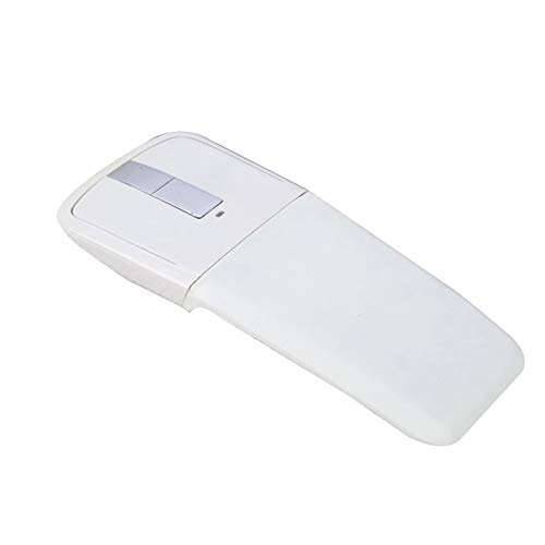 (106sasuppg 2.4GHz Arc Foldable Touch Optical Wireless Mouse USB Receiver for PC Laptop - White )