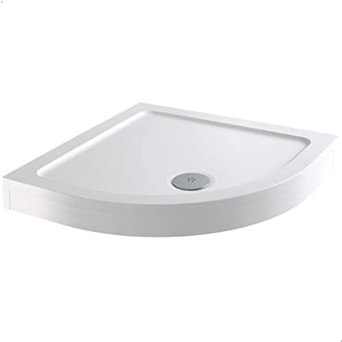 900 x 900mm Quadrant Shower Tray Easy Plumb Premium Anti-Slip Free High Flow Waste