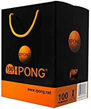 iPong Training Table Tennis Balls 100 Pack - 40mm 40+ Regulation Bulk Ping Pong Balls for Competition and Recr