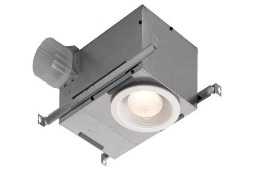 Broan 744 Recessed Bulb Fan and Light, 70 CFM 75-Watt (Renewed)