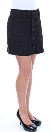 Denim & Supply Ralph Lauren Womens Button-Front Denim Skirt (Black, 26) -