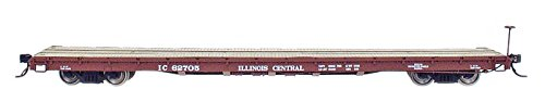 N Scale Assembled 60' Wood Deck Flat Cars-ILLINOIS for sale  Delivered anywhere in USA