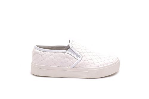Conbuenpie By D'Buzz - Lady Leather Casual Shoes White D7w95lF