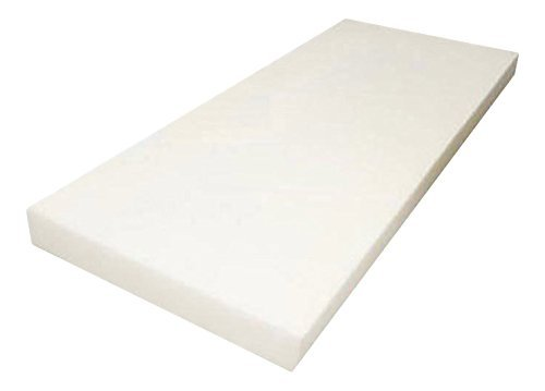 "Mybecca Upholstery Foam Cushion High Density (Seat Replacement, Upholstery Sheet, Foam Padding), 2"" H x 24"" W x 72"" L from Mybecca"