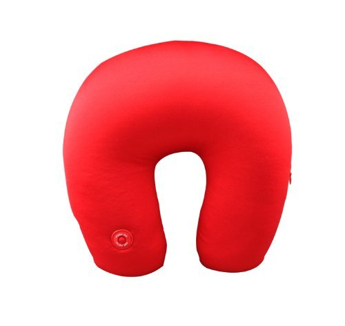 New Neck Massage Microbead Pillow Battery Operated Vibrating Travel Home - Red by GPCT (With Pillows Messages)