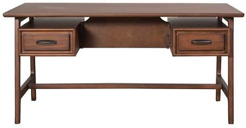 Martin Furniture Nuhaus Collection 80 Writing Partners Desk in wood, Brown