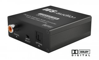 WyreStorm EXP-CON-DAC-D Digital to Analog Audio Converter with Dolby Downmix44; Black by Wyrestorm
