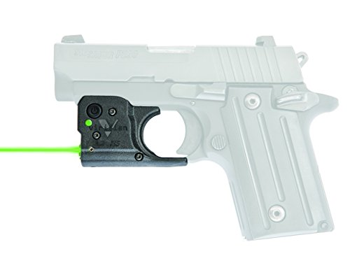 VIRIDIAN WEAPON TECHNOLOGIES, Reactor 5 Gen II Green Laser, Sig Sauer P238/P938 with ECR Instant On IWB Holster, Black