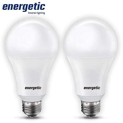 150 Watt LED Light Bulb, Super Bright A21 Daylight 5000K, Non-Dimmable, 2300lm, High Lumen Light Bulbs, UL Listed, 2…