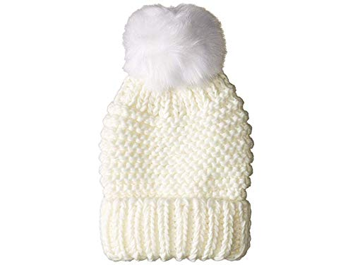 Oversize Ski Boots - Free People Women's Skyline Beanie Hat, Ivory, White, Off White, One Size