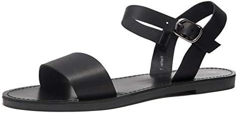 Herstyle Keetton Womens Open Toes One Band Ankle Strap Flat Sandals