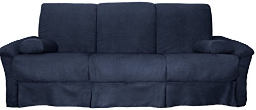 Epic Furnishings Tango Perfect Sit & Sleep Pocketed Coil Inner Spring Pillow Top Sofa Sleeper Bed, Queen-size, Microfiber Suede Dark Blue (Perfect Sofa Sleeper)