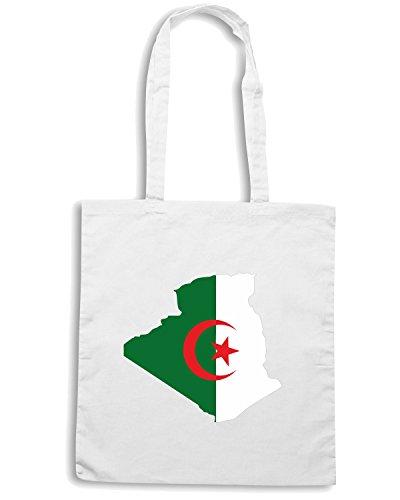 T-Shirtshock - Bolsa para la compra WC0002 ALGERIE ALGERIA Blanco