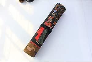 Minzhu - Estuche enrollable para pinceles de pintura con 20 ...