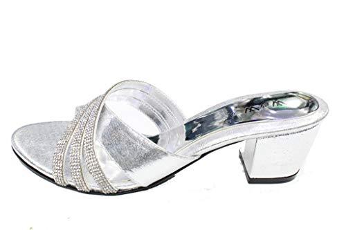 Silver Gold Sandales Wear pour amp; Argent multicouleur Black UK argent Walk femme qxnBOz