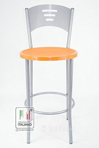 Stil Sedie Sgabello Cucina Bar Ristorante Sala Slot Modello Monika Seduta in plastica Arancione