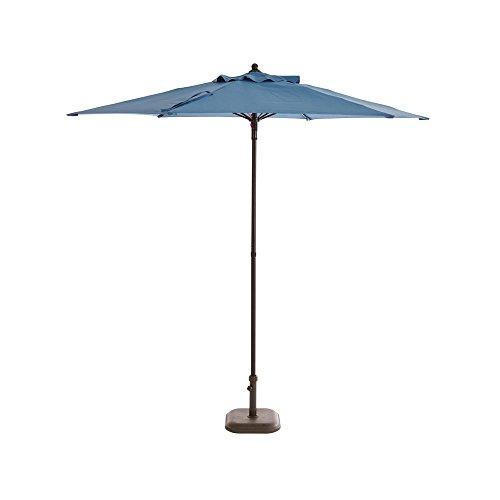 Hampton Bay 7.5 ft. Steel Patio Umbrella in Denim ()