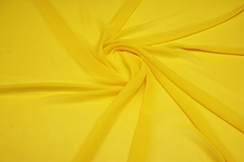 High Multi Chiffon - 60 Inches Width (10 yards, 6.yellow)