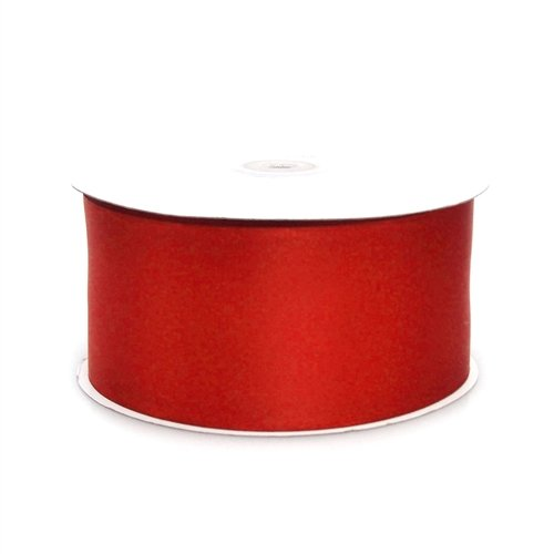 (Homeford Firefly Imports Double Face Satin Ribbon, 2-1/2-Inch, 50 Yards, Red, 2.5
