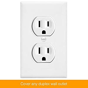 Enerlites Duplex Wall Plates Kit , model 8821-W Home Electrical Outlet Cover, 1-Gang Standard Size, Unbreakable…