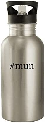 #mun - 20oz Stainless Steel Water Bottle, Silver