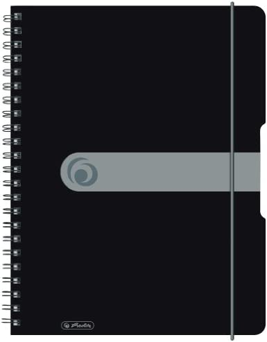 Herlitz 11293073 Spiralblock A4 to go, Holzfreies Papier, 80 Blatt, schwarz