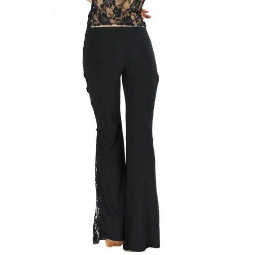 VENI MASEE Bauchtanz elegante Seite Split Hose mit Fransen mit Spitze, Farben, Preis / Stück lakeblue