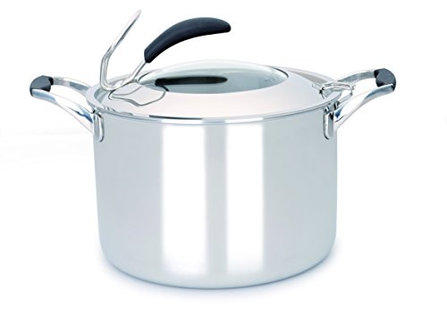 Gunter Wilhelm 308 Stockpot with Lid, 5-Ply, 8 quart, Stainless Steel Cookware (Pack of 2) by Gunter Wilhelm