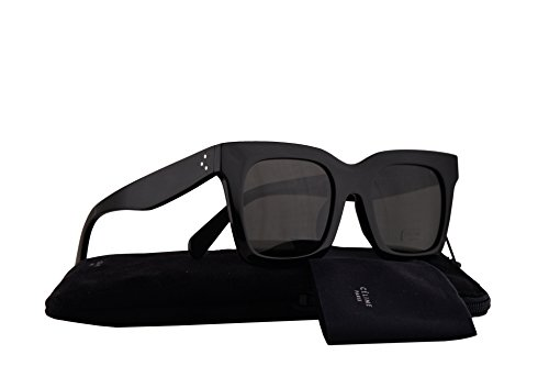 Celine CL41411/F/S Sunglasses Black w/Dark Grey Lens 50mm 807NR CL41411S CL - Aviators Square Celine