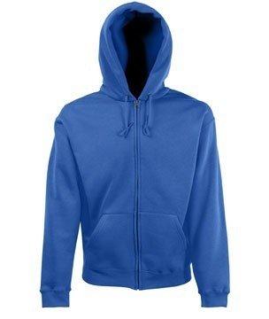 Fruit of the Loom Zip Hoodie Hooded Sweater mit Reissverschluss und Kapuze - Größen  S, M, L, XL, XXL, 15 Farben Zip-Pullover L,Royalblau