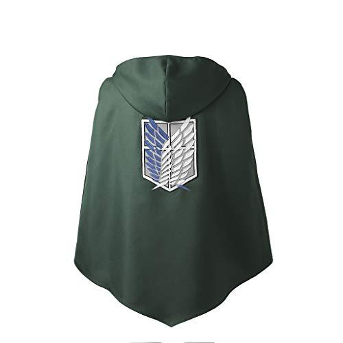 Cape À On Capuche Titan Japonais Samouraï Costume Unisex Attack Cosplayitem Ailes Pour qw6x1U4