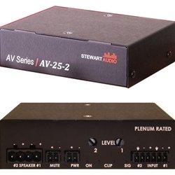 Stewart Audio AV-25-2 2-Channel Subcompact Amp - 25W x 2 at 8 Ohm-by Stewart Audio