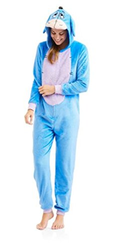 Disney Womens Faux Fur Licensed Sleepwear Adult Costume Union Suit Pajama (XS-3X) Eeyore 2X-Large