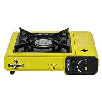 fancyheat portátil estufa de butano, 10.000 BTU, encendido piezoeléctrico, Negro - One portátil estufa de butano con funda.: Amazon.es: Amazon.es