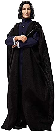 HARRY POTTER Collectible Severus Snape Doll (12-inch) Wearing Black Coat Jacket and Wizard Robes, with Wand, G