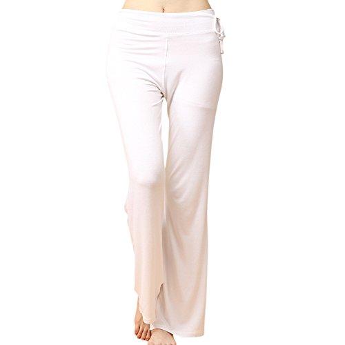 OCHENTA Pantalones - Yoga pants - para Mujer Blanco
