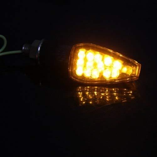 CALAP-STORE - 2 x Lfor Bombilla 14 LED 1W 12V Luz Intermitente Amarillo for Moto - - Amazon.com