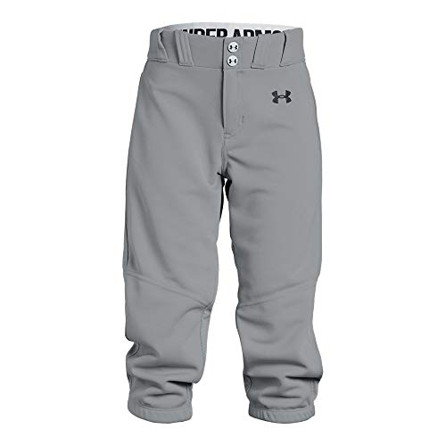 Under Armour Girls Softball Pants, Baseball Gray, Youth Small ()