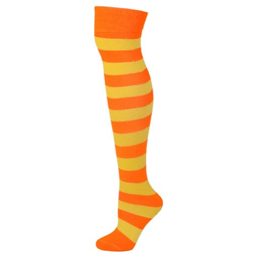 Striped Socks - Orange/Lemon