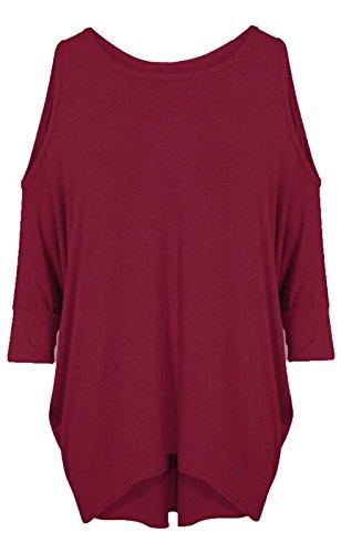 RR Designs - Camiseta de manga larga - para mujer Wine