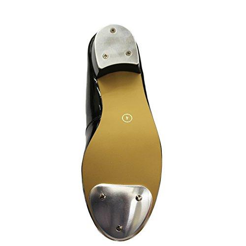 Shoes Depot Tap Heel Patent Black Dance Low Black wXqadXxI