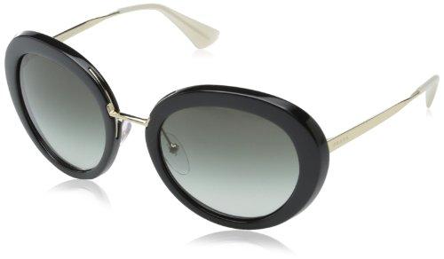 (Prada Women's 0PR 16QS Black/Opal Ivory/Grey Gradient)