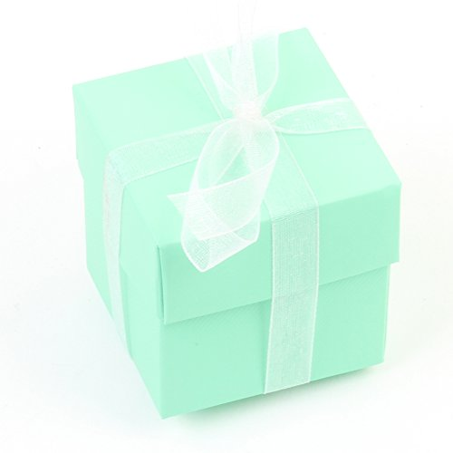 Koyal Wholesale 2-Piece Gift Favor Box 2 x 2 Inch Cube with Lid, Goodies Boxes, Bonbonnierre Boxes, Treat Boxes for Wedding, Kids Birthday, Baby Shower, Baptism, Gifting (10-Pack, -